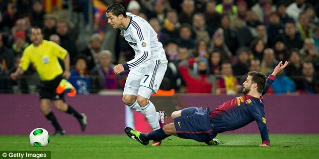 Diving cheating and the dark arts of el clasico why i m for Cristiano ronaldo dive
